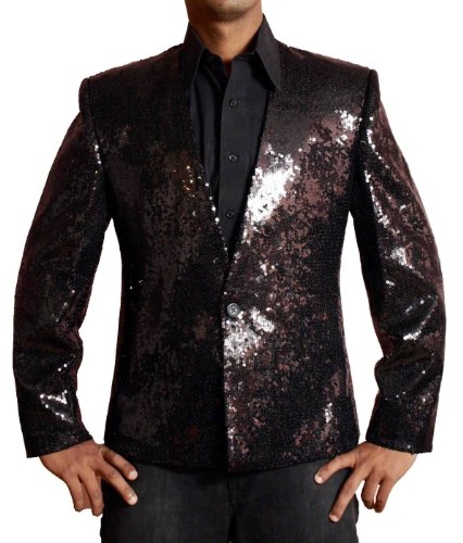 Michael Jackson Billie Jean nero paillettes giacca con Badge. Ottenere Giacca Custom Made. USA ritorno/Scambio Indirizzo. Black XX-Large