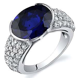 revoni argent 925 1000 argent sterling rond brillant ovale bleu saphir zirkonia finering revoni. Black Bedroom Furniture Sets. Home Design Ideas