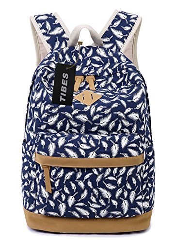 tibes-fashion-printed-canvas-backpack-for-women-deep-blue