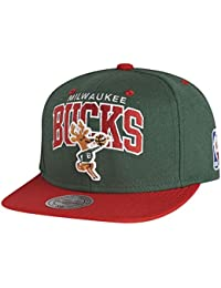 Mitchell & Ness and Milwaukee Bucks NBA Team Arch Snapback Cap NA80Z
