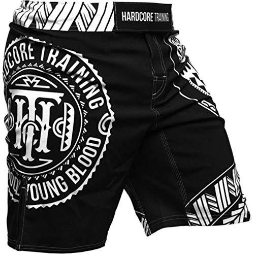 Hardcore-Training-Short-For-Men-Ta-Moko-Black-Cage-Fight-Sport-MMA-UFC-MMA-BJJ-UFC