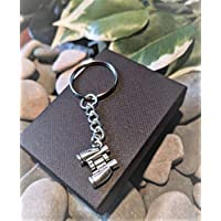 Handmade Binoculars Silver Plated Keyring/bag Charm. Dad Father Gift. Bird Watching, Plane Spotting, Racing. Can be personalised. Gift Packaged.