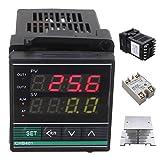 KUNSE Dissipatore di Calore della Termocoppia di Ssr-25Da Termostato Pid Digitale Temperatura Controller
