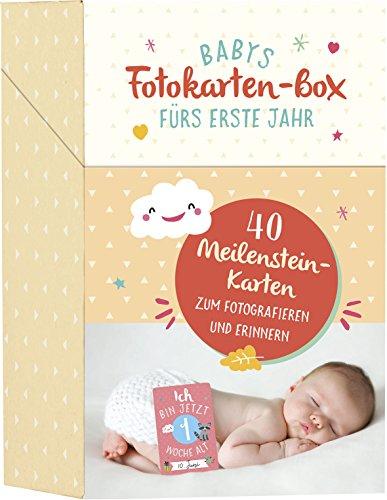 Babys Fotokarten-Box fürs erste Jahr: 40 Meilenstein-Karten zum Fotografieren und Erinnern - Mami-box