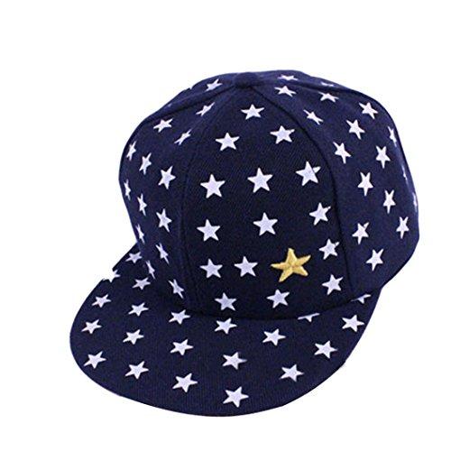 OYSOHE Kinder Baby Kinder Stern Muster Hip Hop Baseball Cap erreichte Hut, Kinder Baby Kinder Stern Muster Hip Hop Baseball Cap erreichte Hut (Einheitsgröße, Marine)