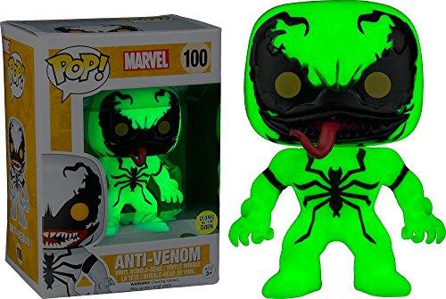 Foto de FunKo 024954Pop Marvel: anti de Venom Glow in the Dark de 100Bobble Head Figure