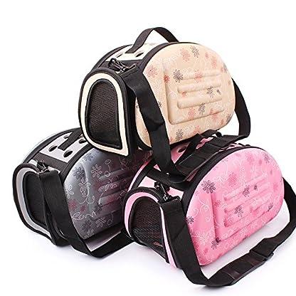 GossipBoy EVA Folding Washable Outdoor Pet Crossbody Handbag Tote for Dog Cat Comfort Portable Breathable Travel Medium… 4