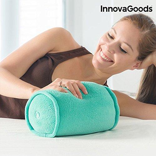 InnovaGoods IG114888 - Cojin masajeador cilindrico suave y ergonomico