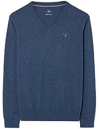 Gant Lightweight Cotton V-Neck Sweater, Jersey para Hombre