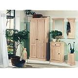 Toskana wandpaneel garderobe paneel wandgarderobe for Kompaktgarderobe massivholz