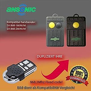 Handsender 868,3 MHz für ANSONIC SA 868-1MINI/M , ANSONIC SA 868-2MINI/M Antriebe