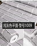 SQBZ Ziegelsteinvliestapete Ziegelsteinmuster chinesischer moderner Wohnzimmertapete des roten Ziegelsteines Friseursalonbüroschatz-Persönlichkeitsumweltschutz, hellgraues Flugzeug 1009, nur Tapete