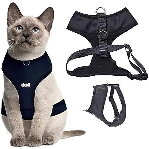 regalos kawaii gato Arnés de lujo para gato acolchado y resistente al agua Dexil.