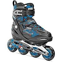 Roces Inline Skates Moody 4.0 Boy Patines en línea, niño, Negro/Azul, 30-35
