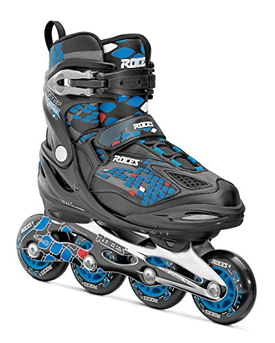 Roces Jungen Inlineskates Moody 4.0, Black-Astro Blue,Red, 36-40, 400777-002