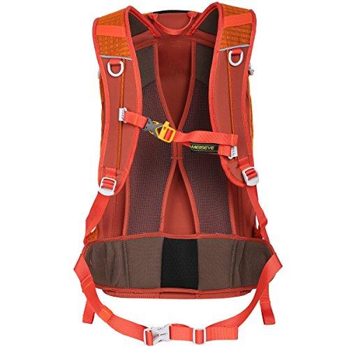 Eshow Unisex Erwachsene Nylon Wasserdicht Trekkingrucksack Wanderrucksack Camping Rucksack Outdoor 30L Orange