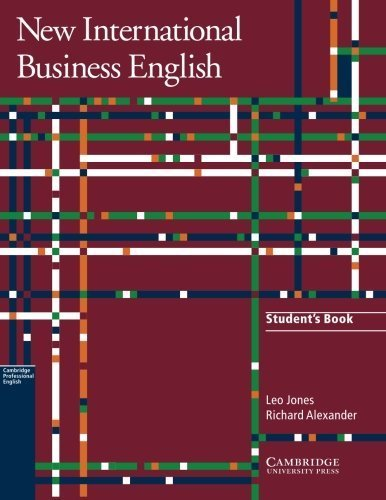 New International Business English Student's Book: Communication Skills in English for Business Purposes by Leo Jones (2011-07-11)