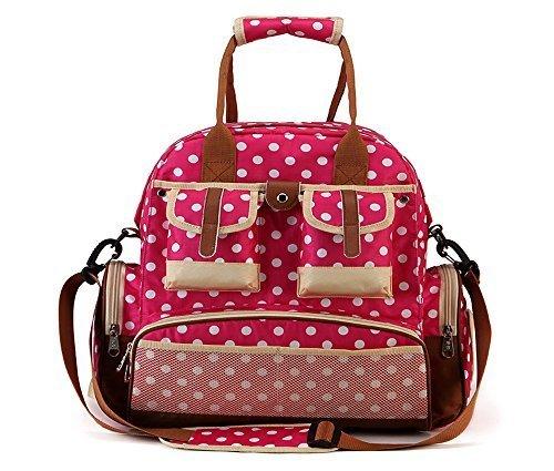 LD12-5 Women Diaper Handbag Bags Polka Dot Multifunction Baby Nappy Backpacks