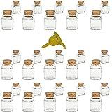 Viva Haushaltswaren - 30 x Mini Gewürzglas eckig 50 ml