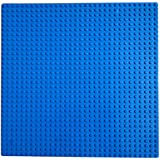 "Fancyku Building Base Plates 10"" X 10"" Original Base Plate - Compatible With All Major Brands (Blue)"