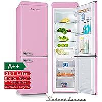 Schaub Lorenz sl250sp Réfrigérateur Congélateur Rétro Rose Classe  d efficacité énergétique   A + 112373615436