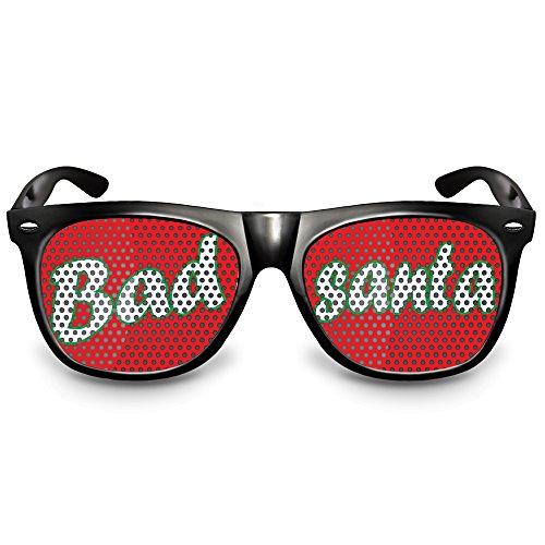 Ideen Kostüm Sport Motto Party (COOLEARTIKEL Partybrille / Spassbrille für Weihnachten, lustige Accessoire Idee für die Weihnachtfeier oder Christmas Party, Atzen-brille mit X-MAS Motiv (Nerd schwarz, Bad)