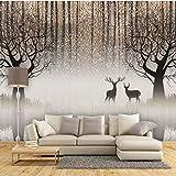 HONGYAUNZHANG Weiß Polka Dot Elk Benutzerdefinierte Fototapete 3D Stereoskopischen Wandbild Wohnzimmer Schlafzimmer Sofa Hintergrund Wandmalereien,60Cm (H) X 80Cm (W)