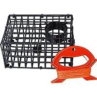 Fladen pesca niños cangrejo cangrejo Pot trampa (18,5x 12,5x 9cm) con rojo Winder Set–gran diversión para las aguas costeras y fresco [31–644]