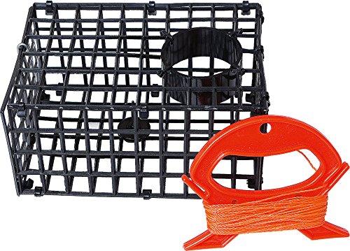 Crab Langusten Topf Trap (18,5x 12,5x 9cm) mit Rot Winder Set-Spaß für Küsten- und Fresh Waters [31-644] ()