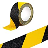 Warnung Klebeband, sensona Anti-Rutsch Safety Tape High Traktion Safe Schleifkorn Grip – Schwarz mit Gelb