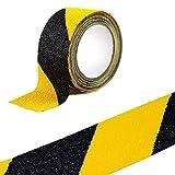 Warnung Klebeband, sensona Anti-Rutsch Safety Tape High Traktion Safe Schleifkorn Grip–Schwarz mit Gelb