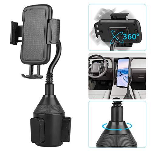 EEEKit Soporte para teléfono Cup Holder, Soporte para Coche, Soporte de Vaso de Cuello de Cisne Ajustable, Base de rotación de 360 ° para iPhone XS XR X 8 8 Plus, Samsung Galaxy S10 S9 S8 Note 9