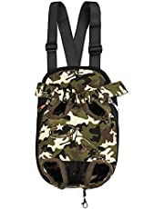 Kraptick Kangaroo Pouch Front Back Pet Backpack Carrier, Wide Straps Shoulder Pads, Adjustable Legs Out Pet Backpack Carrier Walking, Travel, Hiking, Camping (XL Size) (Camouflage Canvas)
