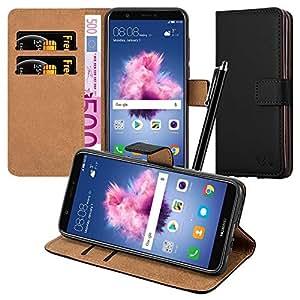 huawei p smart case leather wallet book card case. Black Bedroom Furniture Sets. Home Design Ideas