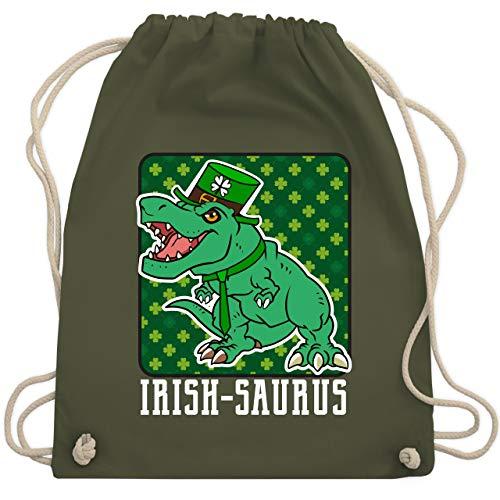 St. Patricks Day - Irish-saurus - Unisize - Olivgrün - WM110 - Turnbeutel & Gym Bag