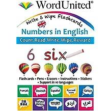 Numbers in English: Write & Wipe Flashcards
