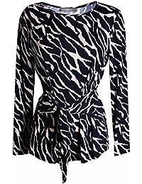 f0a86ba8 Michaela Louisa Women's Long Sleeve Multi Print Top
