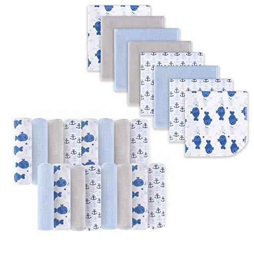 Babywaschlappen, Extra weiches und ultra saugfähiges Badetuch, Große Geschenke für Neugeborene und Säuglinge 24 Pack, Wal