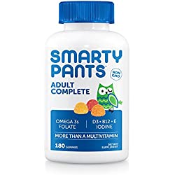 All-in-One Adult Multivitamin + Omega3s + Vitamin D3 Gummies by SmartyPants, 180 ea