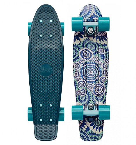 Penny Cruiser Komplett Graphic Series - Artist Mitch King Collaboration - 22 Inc (One Size , Blau)