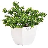 PLANTERS ARTIFICIAL TULSI PLANTS & COPPER PEARL POT