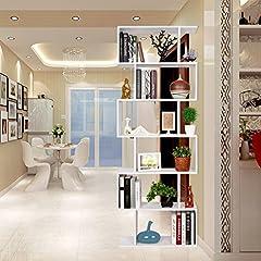 Idea Regalo - HOMFA Libreria Scaffale Mobile Ufficio in Legno di Disegno Contemporaneo da Ufficio e Casa 70 × 23.5 × 190.5cm Bianco Carico 60 kg