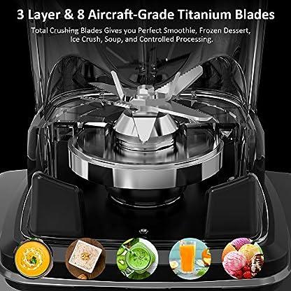 Standmixer-Smoothie-Maker-homgeek-2000W-Smoothie-Blender-Schleifer-und-Eis-Zerkleinerungsmaschine-33000-Umin-2L-Tritan-Behlter-ohne-BPA-2019-Neue-Version