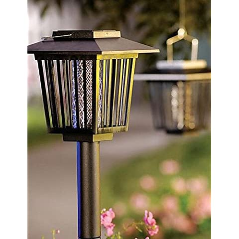 Solar Powered Mosquito Repellant Bug Zapper Pest Killer Garden Stake (CIS-57218)