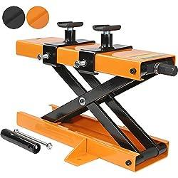 TIMBERTECH MRBN02 OR Cric Moto | Charge max 450 kg, Orange | Plate-forme élévatrice, Support de montage et levage