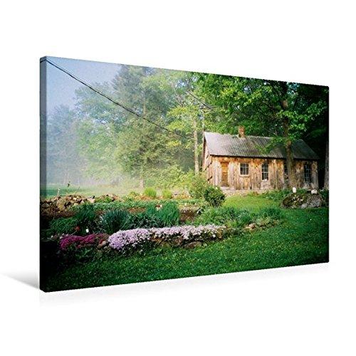 Premium Textil-Leinwand 75 cm x 50 cm quer, Ein Sommermorgen in New Hampshire | Wandbild, Bild auf Keilrahmen, Fertigbild auf echter Leinwand. aus dem Kalender Neu England (CALVENDO Orte) (New Hampshire-kalender)