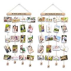 Idea Regalo - Uping Cornice Portafoto Multipla Cornice Foto Collage da Parete, per Appendere Foto Wall Decor (Set di 2, con Adesivi di Lettere e Numeri)