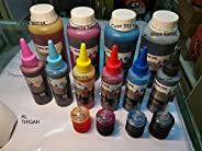 4 Color Cartridge Refill Ink For All Printer Set. Epson. HP. Canon. Brother. (Pack of 5, 30ML)