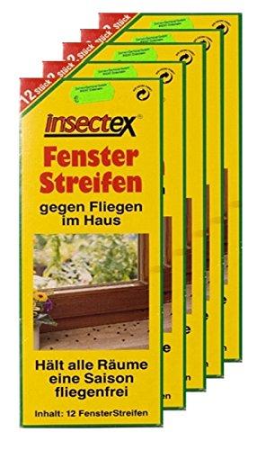 Fliegen Fenster Streifen Insectex 5er Sparpaket + 20g Kressesamen Sprint