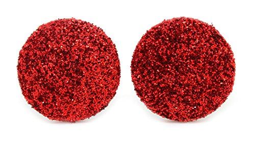 bluebubble-disco-noches-20-mm-ruby-rojo-con-purpurina-pendientes-con-caja-de-regalo